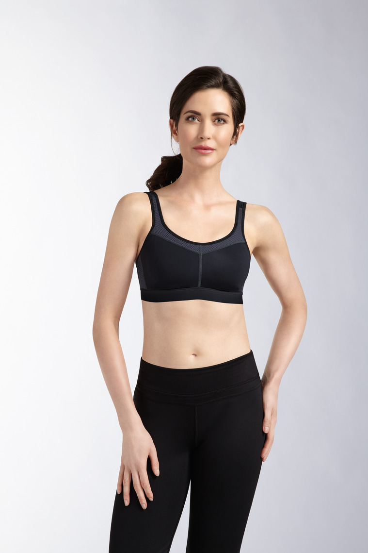4d97141bd3 Amoena Power Sports Bra Black Grey Sz 12B 34B