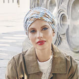 Christine Shakti Ikat Blues Turban