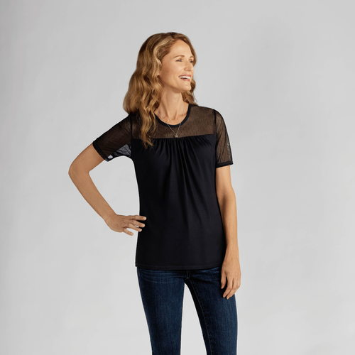 Lace T-Shirt Amoena Black Small